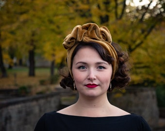 Turban hairband for self draping, 50s style, like Mrs. Maisel
