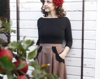 Skirt Severina, bags with enchanting detail, in the style of the 50s, like Mrs. Maisel