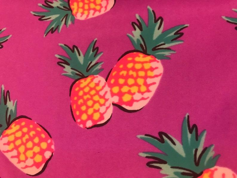 VINTAGE Purple Pineapple Bikini Set