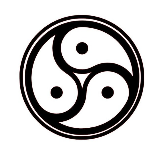 BDSM Triskele Bdsm Emblem Bdsm Decal Bdsm Symbol Alt | Etsy