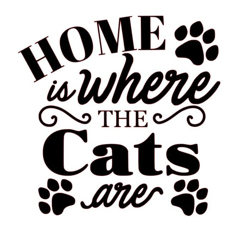 Home Is Where The Cats Are Love My Cats Cat Mom Cat Rescue image 0