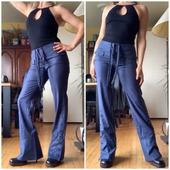 Vintage Emporio Armani Satin Wool Pants 2
