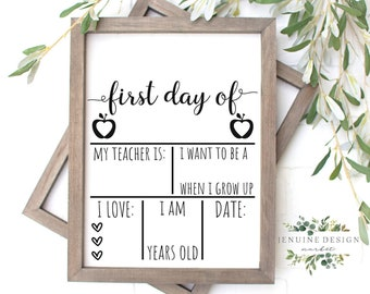 Back To School Printable | First Day Of School Stats Sign | Back To School Board