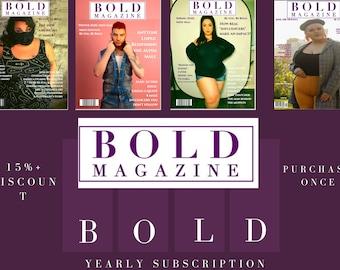 Yearly Subscription - Bold Magazine