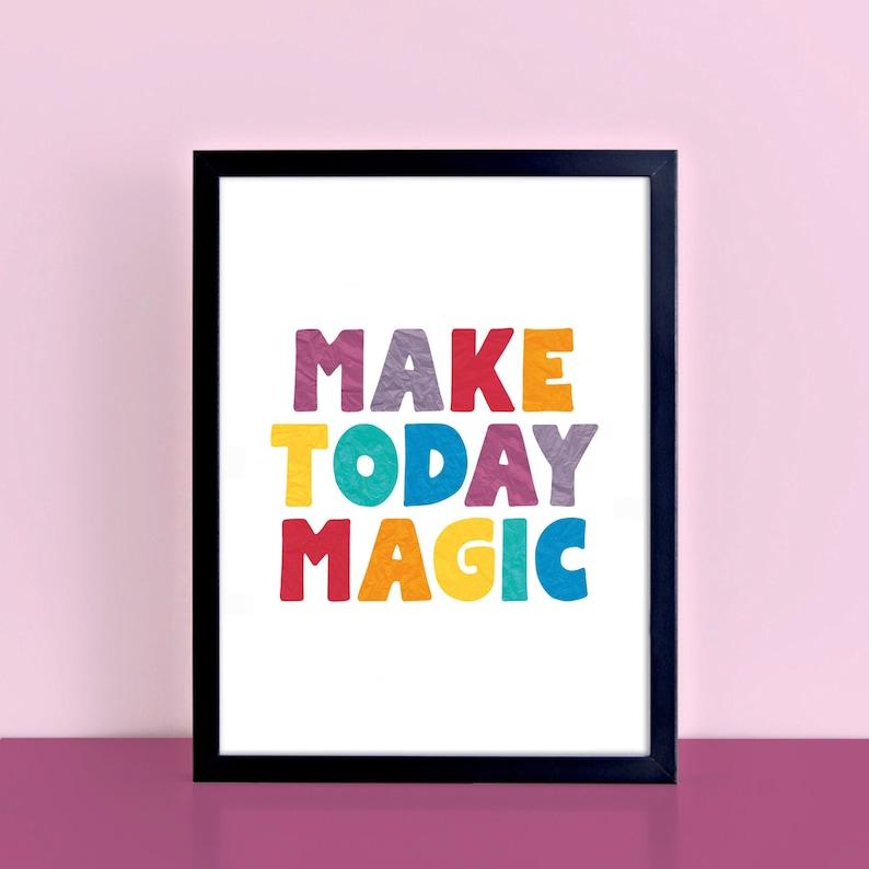 Machen Sie heute Magie Zitat Druck Regenbogen Farben   Etsy