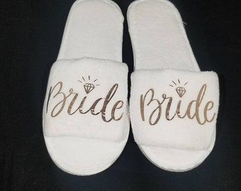 67e9d9ac99eb2 Bride slippers | Etsy