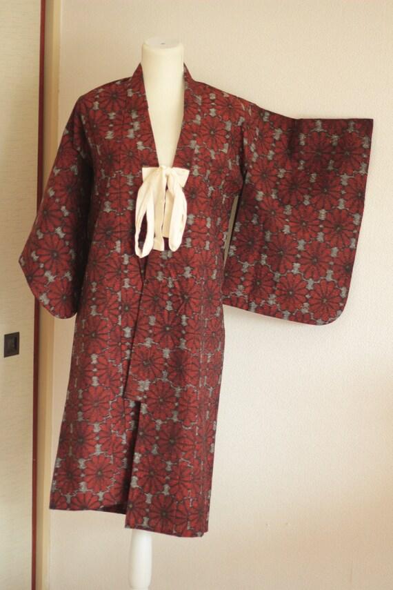 Vintage kids kimono set girl 1950s *INTL SHIPPING
