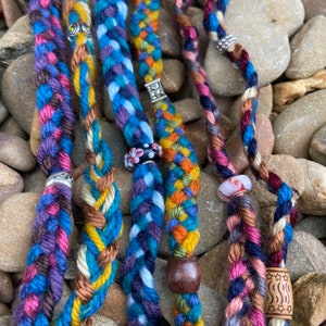 Strand Hair Braids and one three Five Bohemian Style Natural Hippie Hair Wraps Decorative Weave in Dreadlock Extentions