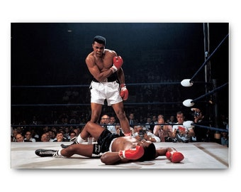 Muhammad Ali vs Joe Frazier Boxing Fighter Poster Wall Mural on Adhesive Vinyl