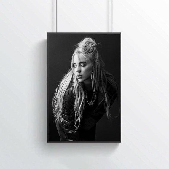 Billie Eilish Postermusic Postersilk Paintingspecial Giftbedroom Artsilk Artwall Artno Frame60x90cm