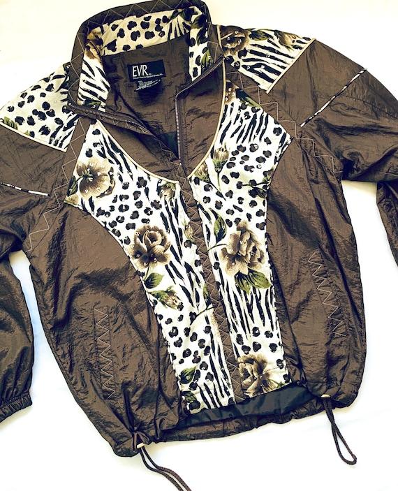 Vintage 1990's Leopard Print Windbreaker