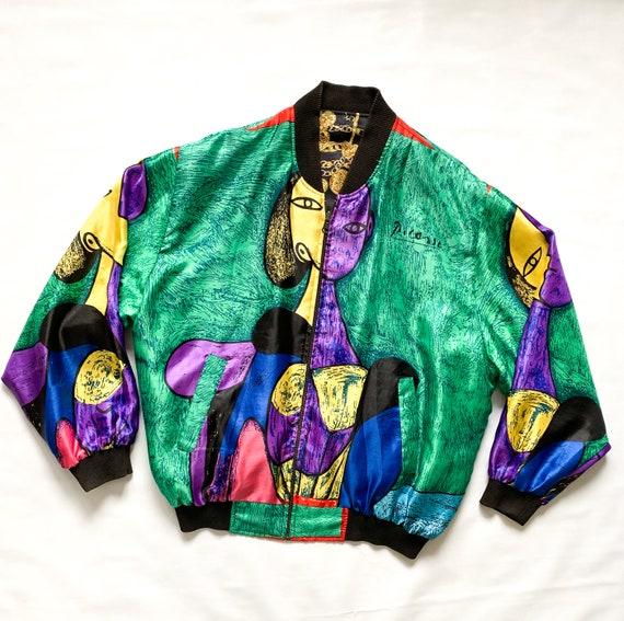 Vintage 1980's REVERSIBLE Printed Bomber Jacket