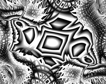 "Fractal Image - ""Screenbender (3)"" - Mural, Home Decor, Modern Art, Abstract"