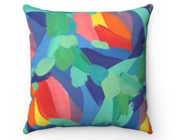 FRESHNESS Pillow | Art Printed Cushion | Original Contemporary Art Designed Pillow | Abstract Style Decorative Pillow