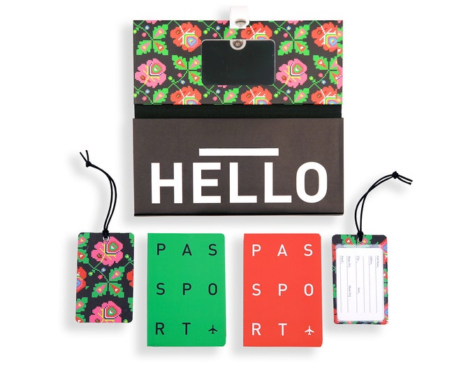 TRIP KIT Timeless Folklor /// Traveling wallet /// Traveling accessories /// Passport cover /// Luggage tags