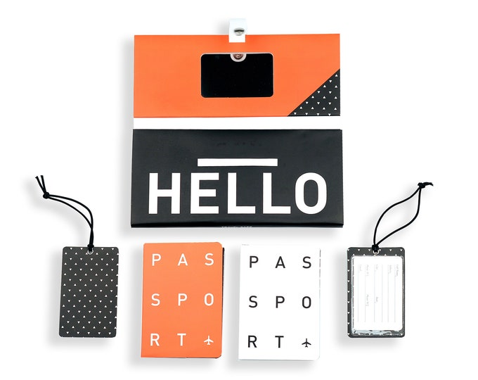 TRIP KIT Red Hot /// Traveling wallet /// Traveling accessories /// Passport cover /// Luggage tags