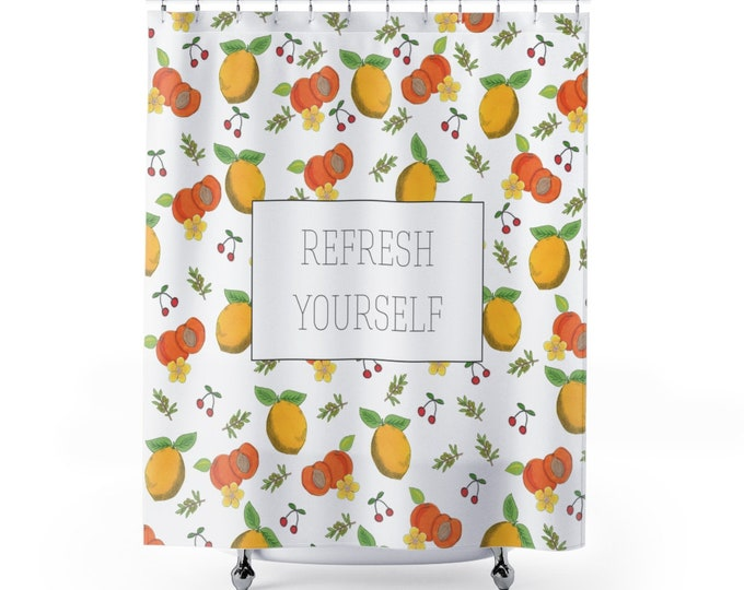 REFRESH YOURSELF Shower curtain