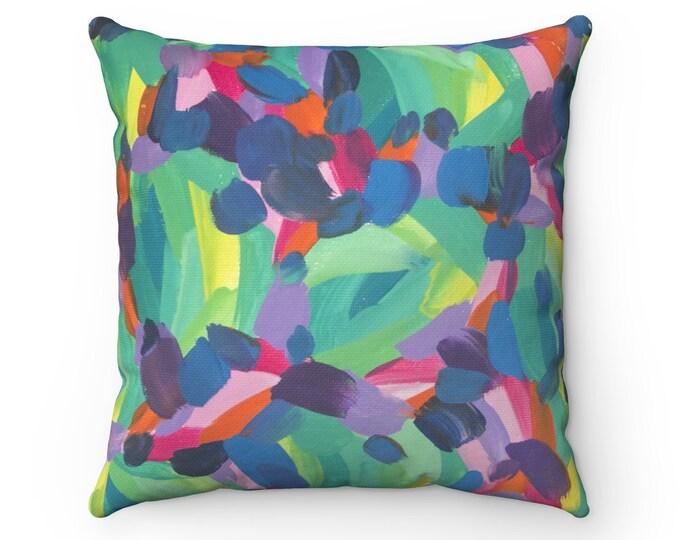 FLOW Pillow   Art Based Printed Pillow   Modern Designed Cushion   Original Contemporary Art Pillow