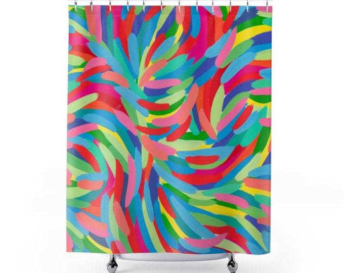 Shower Curtain Vivid Colors   Based on my Art work