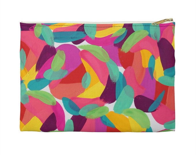 BRIGHT HEART Makeup Cosmetic Accessory Pouch | Colorful Makeup Bag |Pencil Case  | Fun Gift Idea