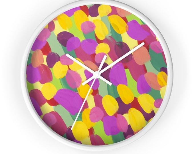 SUNNY Wall clock | Silent Decorative Wall Clock | Lively Kitchen Wall Clock | Wooden Modern Wall Clock