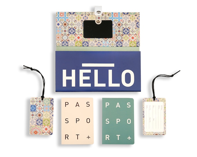 TRIP KIT Rich Tiles /// Travelling case /// Travelling accessory /// Luggage tags /// Passport cover