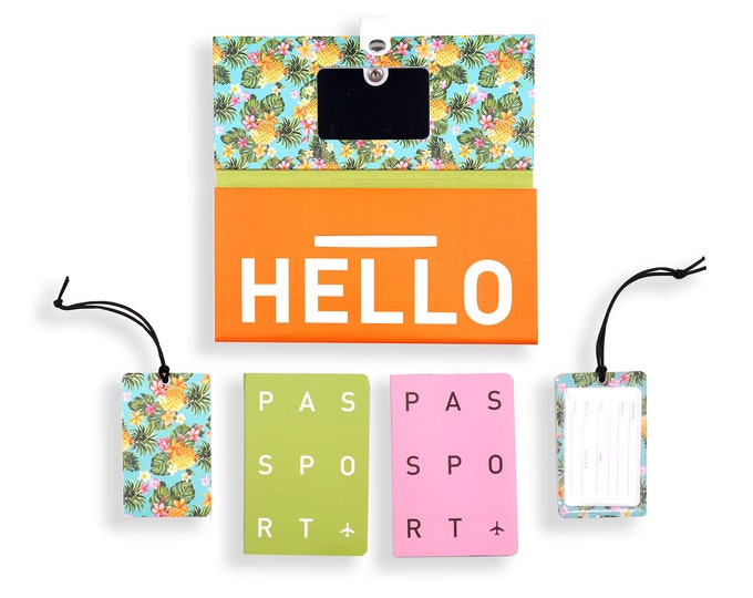 TRIP KIT Sweet Ananas /// Traveling wallet /// Traveling accessories /// Passport covers /// Luggage tags