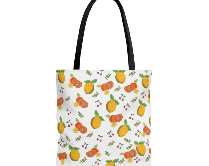 LEMONS & PEACHES Tote bag