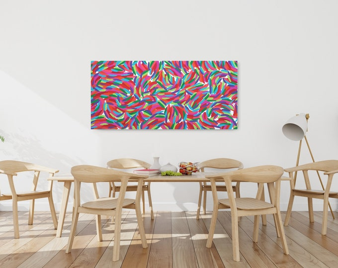 Original Canvas painting 70 x 150 cm   FREE SHIPPING