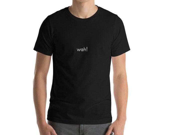 Short-Sleeve Black Unisex T-Shirt  | wah!