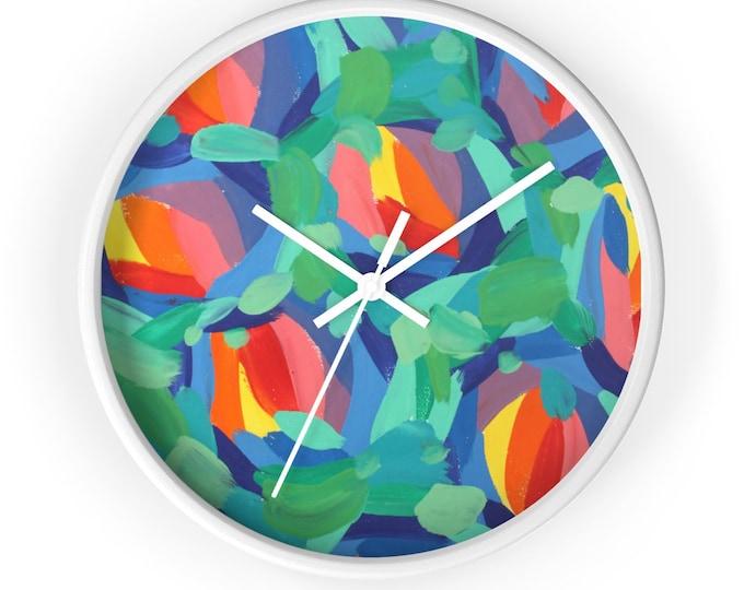 FRESHNESS Wall clock | Round Wooden Wall Clock | Silent Kitchen Wall Clock | Modern Art Home Decor