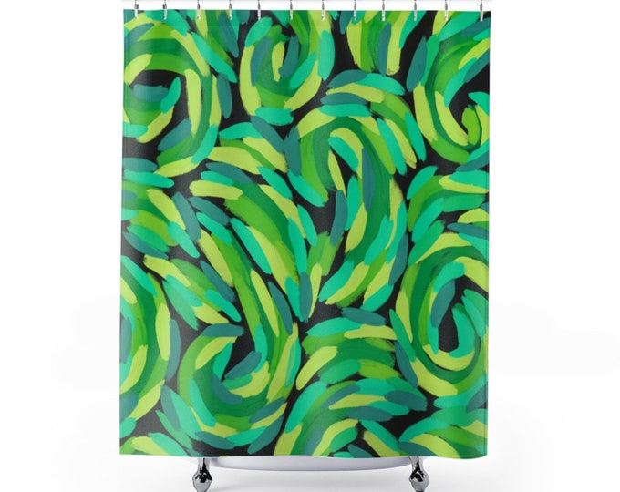 Shower Curtain Vivid Colors | Based on my Art work