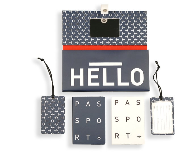 TRIP KIT Blue Sea /// Traveling wallet /// Traveling accessories /// Passport covers /// Luggage tags