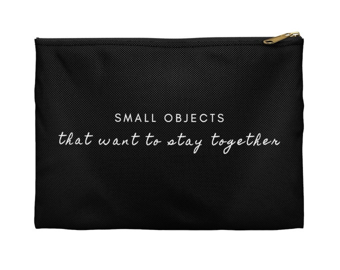 SMALL OBJECTS Black accessory Pouch