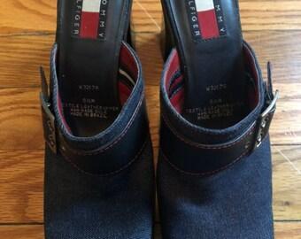 c03c3ec164ff0 90s denim shoes   Etsy