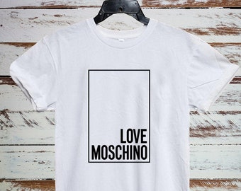 4d12adc2ee Moschino Mens Womens Kids Shirt, Moschino Love Tshirt, Moschino Unisex T  Shirt, Moschino Inspired, Moschino T-shirt, Streetwear