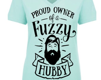 Proud Owner of a Fuzzy Hubby SVG file. Cricut Cameo shirts vinyl silhouette logo