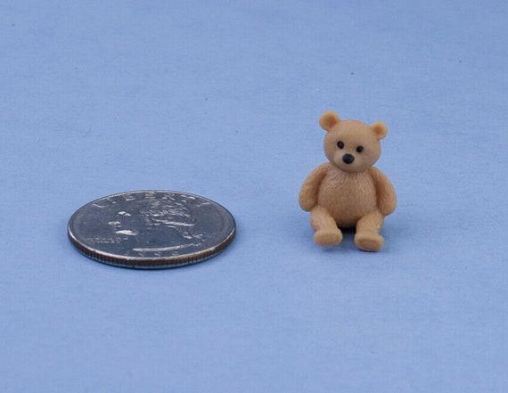 ADORABLE Dollhouse Miniature Small Rubber Teddy Bear Figurine #MUL6033