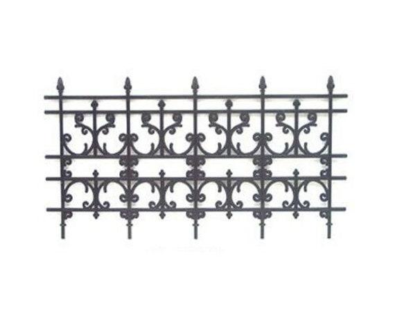 1:12 Scale Dollhouse Miniature//Fairy Garden Black Decorative Fencing #WCC71