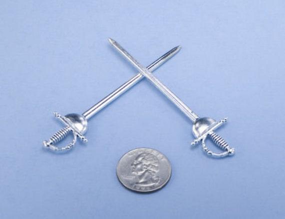 Dollhouse Miniature Metal Sword with Celtic Cross #CM162158