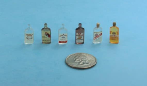 Miniature Bottles 1:12 scale plastic