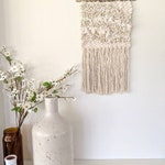 Neutral Woven Wall Hanging | Textured Woven Wall Hanging | Cream and White Wall Hanging | Macrame