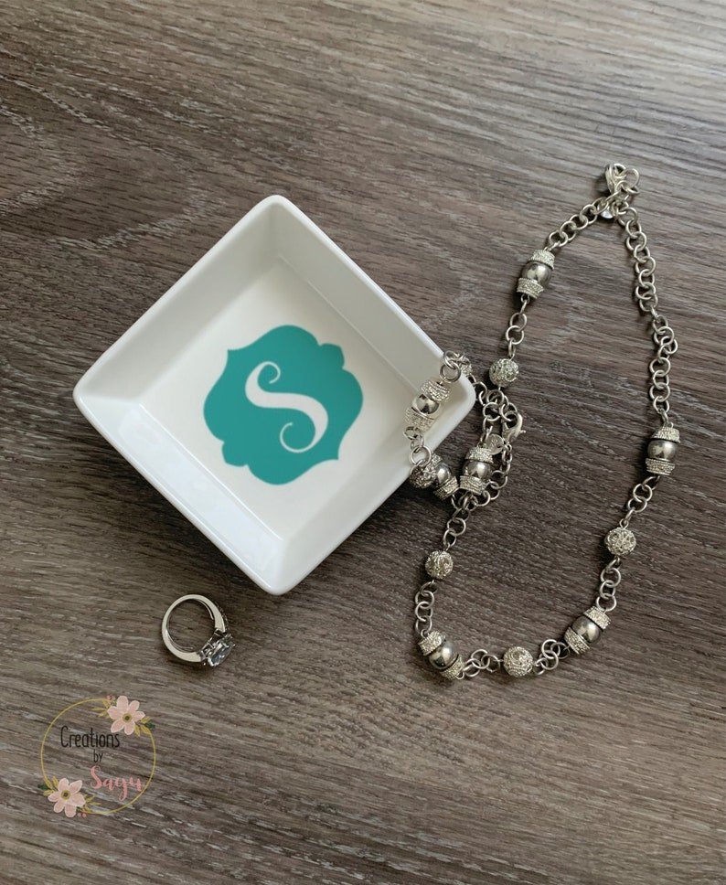 Wedding Gift ideas Bride Ring Dish Monogram Ring Dish Personalized Jewelry Dish