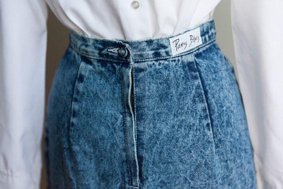 80s acid washed denim skirt, vintage denim skirt,… - image 5