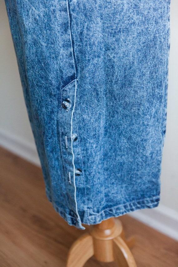 80s acid washed denim skirt, vintage denim skirt,… - image 6