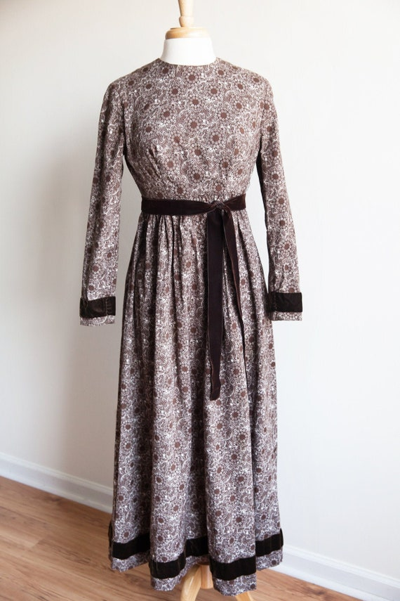 vintage little house on the prairie dress, 1970s h