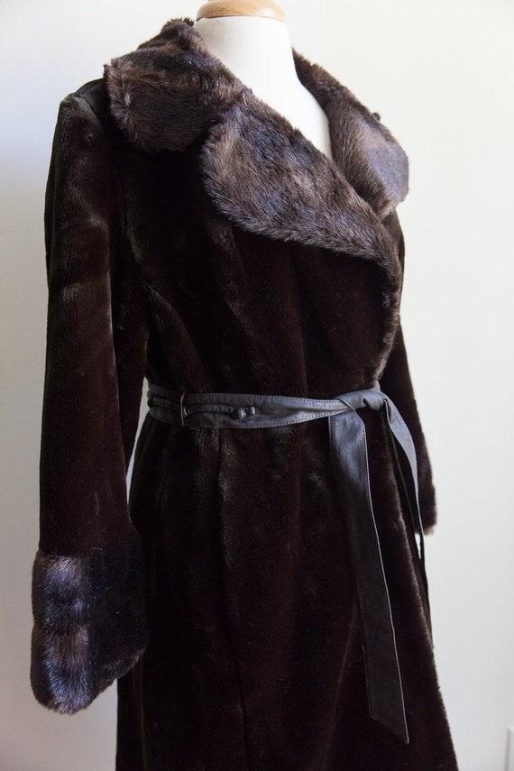 70s vintage faux fur coat, vintage faux fur coat,… - image 3