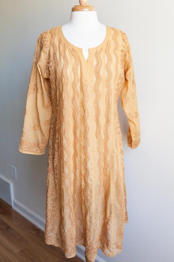 vintage embroidered indian dress, vintage indian d