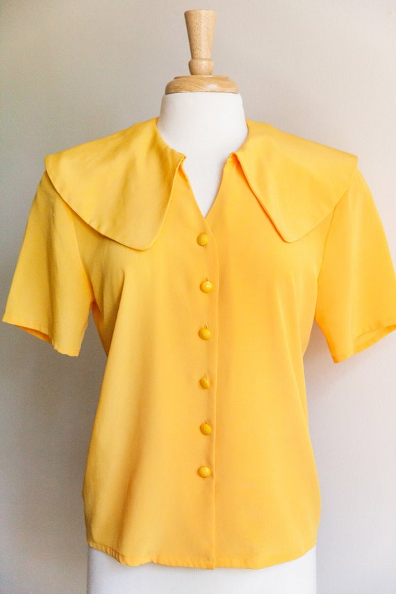 vintage you are my sunshine blouse, 1980s 80s yell