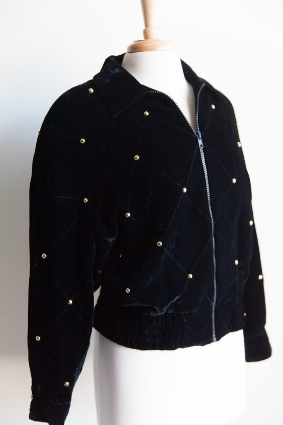 90s vintage quilted velvet bomber jacket, 90s fash